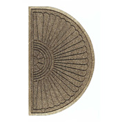 "WaterHog Eco Grand Elite 3/8"" Thick Half Oval Entrance Mat, Khaki 3' x 1'8"""