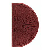 "WaterHog Eco Grand Elite 3/8"" Thick Half Oval Entrance Mat, Regal Red 3' x 1'8"""