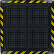 "Hog Heaven II Workstation Comfort Anti-Fatigue Mat 3/4"" Thick, Black/Yellow 43-3/4"" x 43-3/4"""
