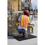 "Kneeling Comfort 7/8"" Thick Anti-Fatigue Mat, Black 18"" x 30"""