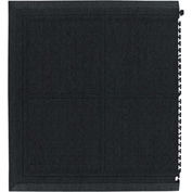 "Hog Heaven Fashion II Linkable Mats End Coal Black 39-7/8"" x 43-3/4"""