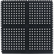 "Comfort Flow HD Modular Anti-Fatigue Tile 3/4"" Thick, Middle Black 36"" x 36"""