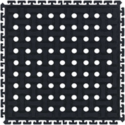 "Comfort Flow HD Modular Anti-Fatigue Tile 3/4"" Thick w/Grit, Middle Black 18"" x 18"""