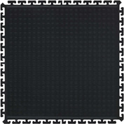 "Hog Heaven II Modular Traffic Anti-Fatigue Center Tile 3/4"" Thick, Black 18"" x 18"""