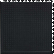 "Hog Heaven II Modular Traffic Anti-Fatigue Corner Tile 3/4"" Thick, Black 18"" x 18"""