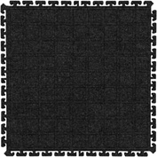 "Hog Heaven Fashion Modular Tile II Center Tile Coal Black 18"" x 18"""