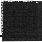 "Hog Heaven Fashion Modular Tile II Corner Tile Coal Black 21-7/8"" x 21-7/8"""