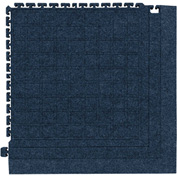 "Hog Heaven Fashion Modular Tile II Corner Tile Cobalt Blue 39-7/8"" x 39-7/8"""