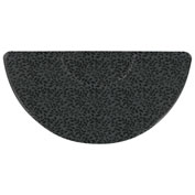 "The Anderson Company Salon Décor Anti Fatigue Mat 34"" x 70"" Half-Oval Mat Botanical"