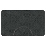 "The Anderson Company Salon Décor Anti Fatigue Mat 34"" x 70"" Half-Oval Mat Damask"