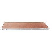 "Fortress Industries 7' x 19"" Aluminum Aluminum/Plywood Deck - FT0107AP"
