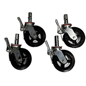 "Fortress Industries 8"" Galvanized Steel Scaffold Casters - FT0408SC"