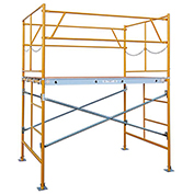 Fortress Industries 5' x 7' x 5' Steel Scaffold Tower with Baseplates - FT0575BP