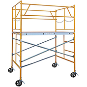 Fortress Industries 5' x 7' x 5' Steel Scaffold Tower with Casters - FT0575SC