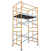 Fortress Industries 10' x 7' x 5' Steel Scaffold Tower with Baseplates - FT1075BP