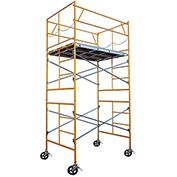 Fortress Industries 10' x 7' x 5' Steel Scaffold Tower with Casters - FT1075SC