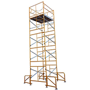 Fortress Industries 20' x 7' x 5' Steel Scaffold Tower with Baseplates - FT2075BP