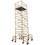 Fortress Industries 20' x 7' x 5' Steel Scaffold Tower with Casters - FT2075SC