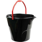 Libman® Commercial 12 Quart Utility Bucket - Black 517 - Pkg Qty 6