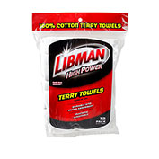 Libman Commercial All-Purpose Terry Towels, 12 Pack - 590 - Pkg Qty 6