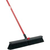 Libman® Push Broom with Resin Block - 24 - Fine-Duty Bristles - Pkg Qty 4