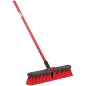 "Libman Commercial Push Broom With Resin Block - 18"" - Medium-Duty Bristles - Pkg Qty 4"