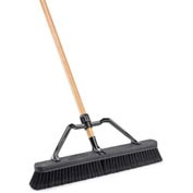 "Libman Commercial 24"" Smooth Surface Industrial Push Broom - Pkg Qty 4"