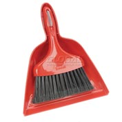 Libman Commercial Dust Pan With Whisk Broom - Red - Pkg Qty 6