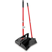 Libman Commercial Lobby Broom & Dust Pan Set - Open Lid - Pkg Qty 2