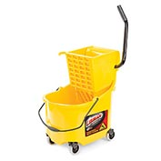 Libman Commercial 26 Quart Mop Bucket & Side-Press Wringer