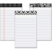"TOPS® Fashion Legal Pads W/Assorted Headtapes 30491, 5"" x 8"", White, 50 Sheets/Pad, 6/Pack"