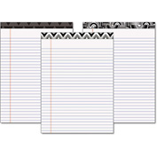 "TOPS® Fashion Legal Pads W/Assorted Headtapes 30493, 8-1/2"" x 11-3/4"", White, 50 Shts/Pad, 6/Pk"