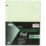 "TOPS® Engineering Computation Pad 35500, 8-1/2"" x 11"", Green Tint, 100 Sheets, 1/Pack"