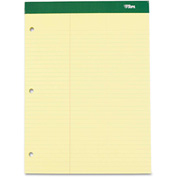 "TOPS® Double Docket w/Extra Stiff Back 63394, 8-1/2"" x 11-3/4"", Canary, 100 Sheets/Pad, 1/Pack"