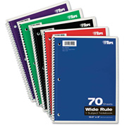"""TOPS® Wirebound 1-Subject Notebook 65000, Wide, 8"""" x 10-1/2"""", 70 Sheets/Pad, 1 Pad/Pack"""