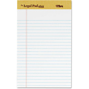 "TOPS® The Legal Pad Plus Perforated Pads 71500, 5"" x 8"", White, 50 Sheets/Pad, 12/Pack"