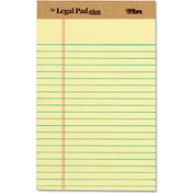 "TOPS® The Legal Pad Plus Rule Perforated Pads 71501, 5"" x 8"", Canary, 50 Sheets/Pad, 12/Pack"