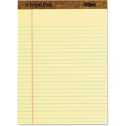 "TOPS® The Legal Pad Legal Rule Perforated Pads 75327, 8-1/2""x11-3/4"", Canary, 50 Shts/Pad, 3/Pk"