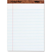 "TOPS® The Legal Pad Rule Perforated Pads 75330, 8-1/2"" x 11-3/4"", White, 50 Sheets/Pad, 1/Pack"