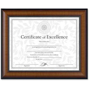 "Dax® Document Frame, Desktop/Wall Mountable, Horizontal/Vertical, 13-1/8"" x 10-5/8"", Walnut"