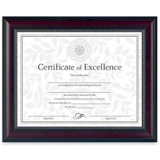 "Dax® Document Frame, Desktop/Wall Mountable, Horizontal/Vertical, 13-1/8"" x 10-5/8"", Rosewood"