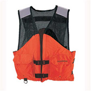 Stearns® Work Zone Gear™ Life Vest, USCG Type III, Orange, Nylon, L