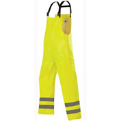 Stearns® ANSI Class 2 Storm Bibs, .43mm PVC/Polyester, Hi-Viz Yellow, 2XL