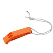 Stearns® USCG Approved Audible Whistle with Tether Line, Orange