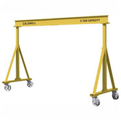 Caldwell H90-1-12/12, Fixed Steel Gantry, 1 Ton Capacity, 12' Ht, 12' Span, 4-Swivel Steel Casters