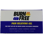 BurnFree® Pain Relieving Gel, 1/8 oz. (3.5 g) Single Dose Packets, 6/Pack