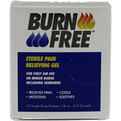 BurnFree® Pain Relieving Gel, 1/8 oz. (3.5 g) Single Dose Packets, 25/Pack