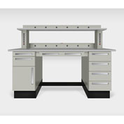"""Teclab TWS-1020-PVC 72"""" x 30"""" Work Bench With Laminate Tops, Putty"""