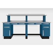 "Teclab TWS-2600-PVC 96"" x 30"" Work Bench With Laminate Tops, Nitro Blue"
