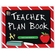 "Teacher Created Resources Plan Book 2093, 12"" x 9-1/2"", White, 1 Each"